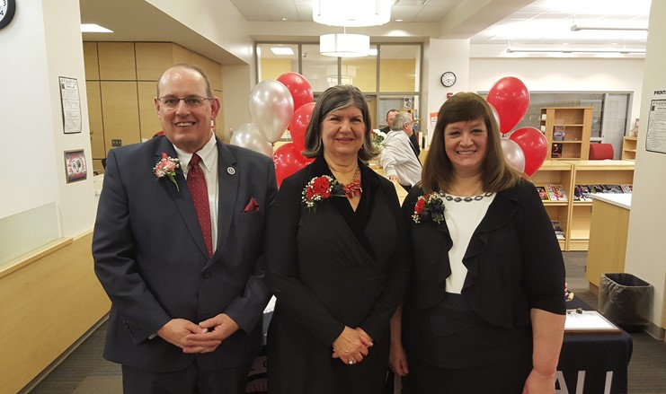 Class of 2017 inductees, Brian Hamler, Nancy Keller Fitton, and Karen Conison