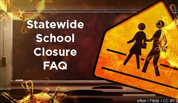 Statewide School Closure graphic