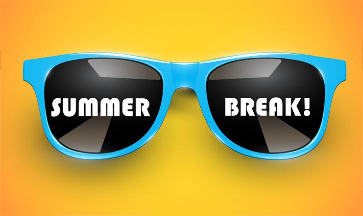 Summer break graphic