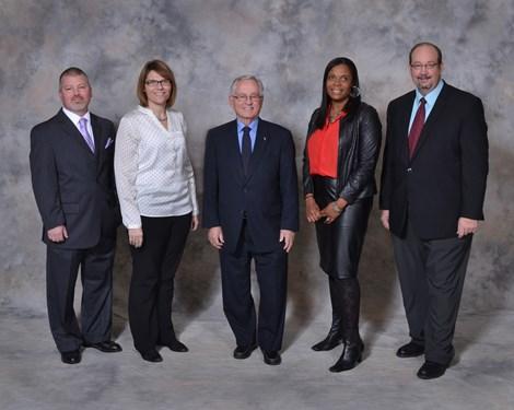 Left to Right: Michael Adkins, Blythe Wood - President, Walter Armes - Vice President, Joy Bivens, Leo Knoblauch