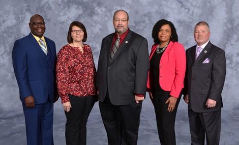 Left to Right: Darryl Hammock, Blythe Wood - President, Leo Knoblauch, Joy Bivens - Vice President, Michael Adkins
